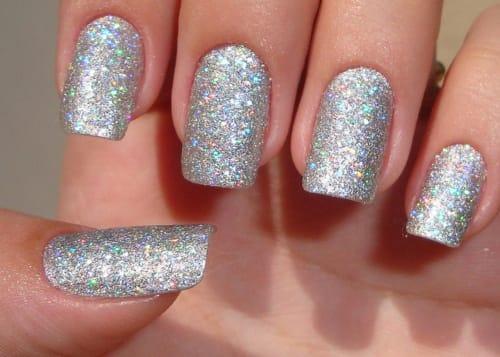 Risultati immagini per unghie glitterate argento