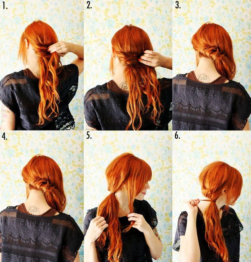 Acconciature fai da te capelli medi scalati