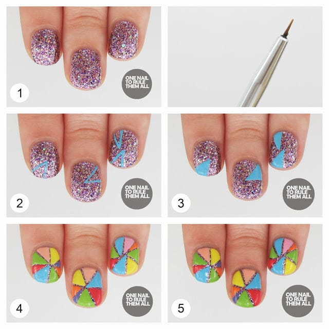 12nail art tutorial 2014