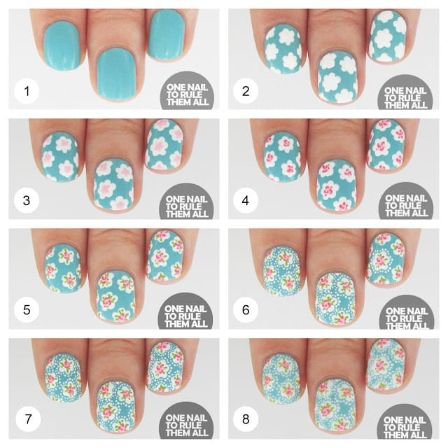 9nail art tutorial 2014