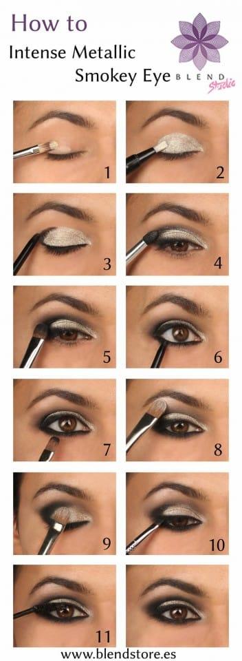 makeup metallic