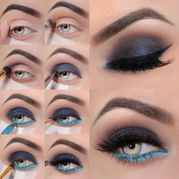 spesso 15 make up tutorial per occhi blu IW02