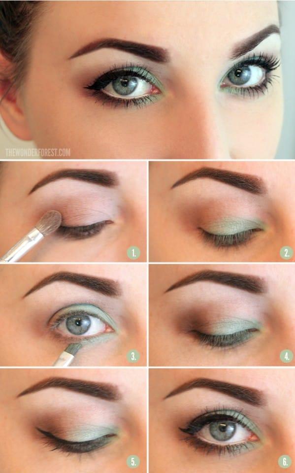 4makeup occhi blu