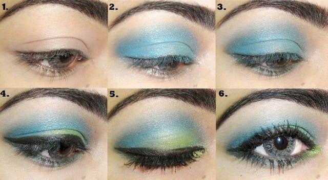 6makeup occhi blu