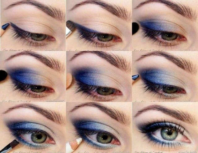 7makeup occhi blu