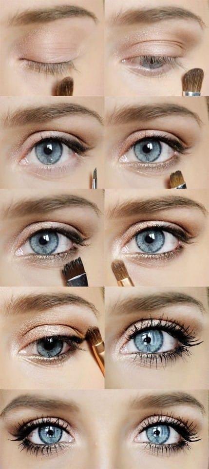 9makeup occhi blu