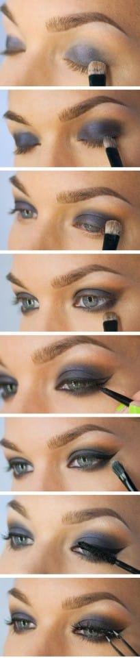 makeup occhi blu