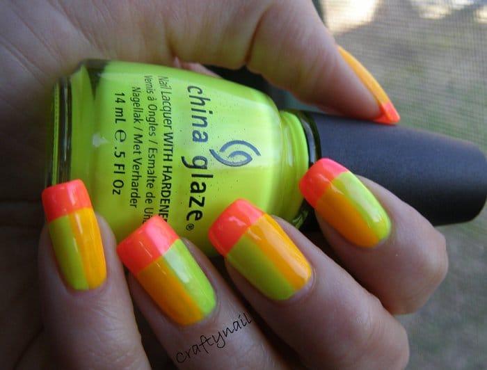 Preferenza 20 idee nail art fluorescenti estate 2014 XT54