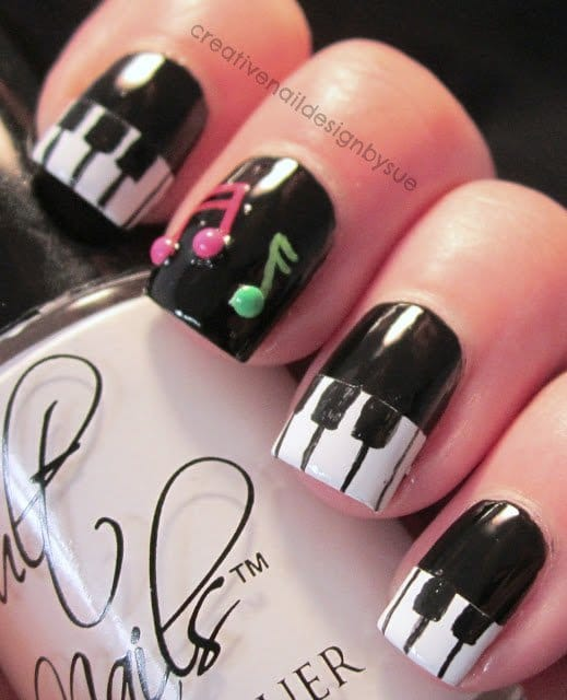 Nail art designs music notes best ideas about music nails on nail nail art designs music notes nov nail art musicali con note e chiavi di volta prinsesfo Image collections