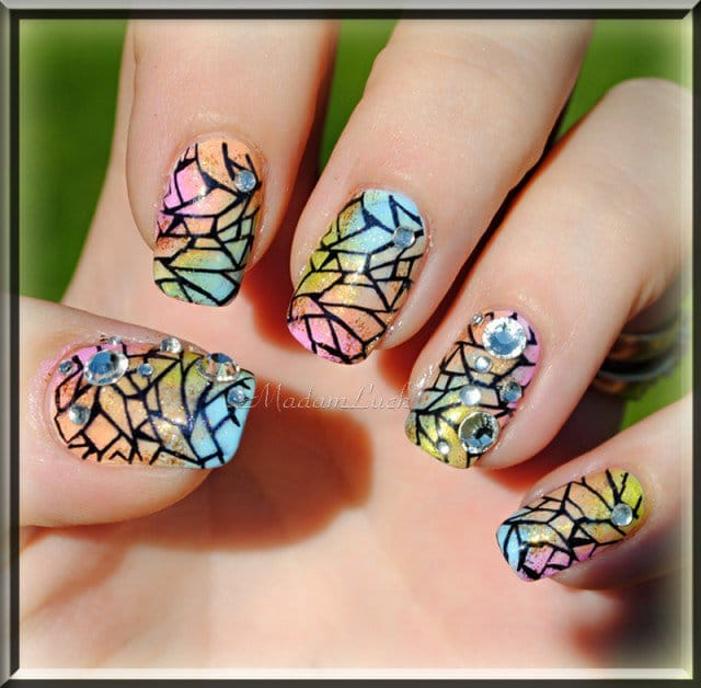 Stained Glass Nail Art: 10 Nail Art Primavera 2015 Da Provare