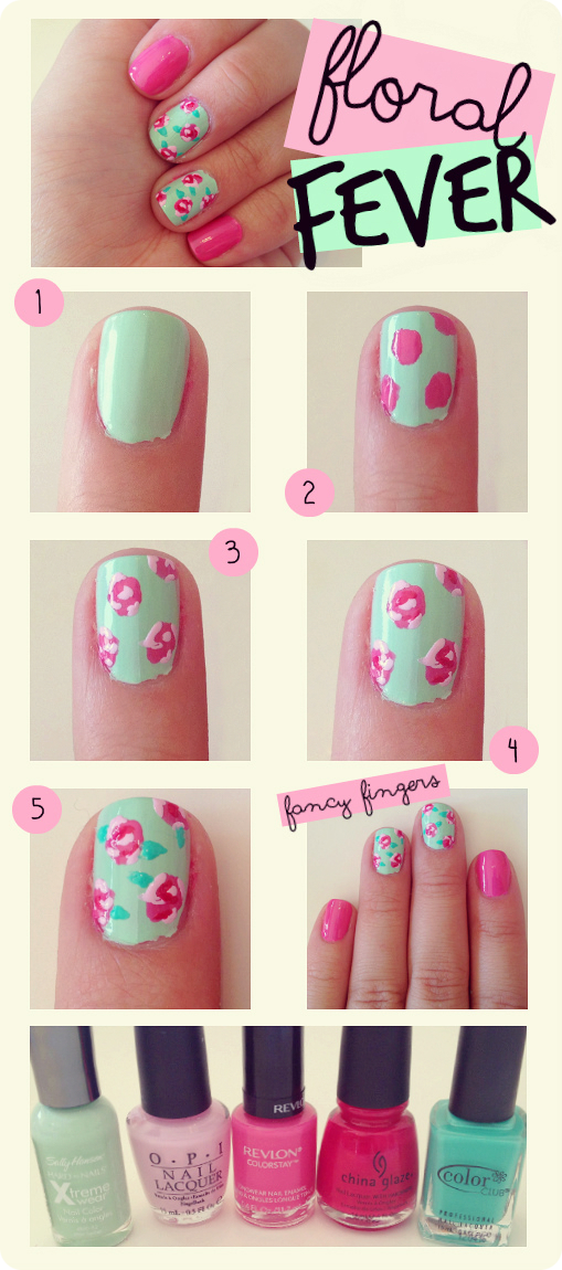 14spring-nail-art-Step-By-Step
