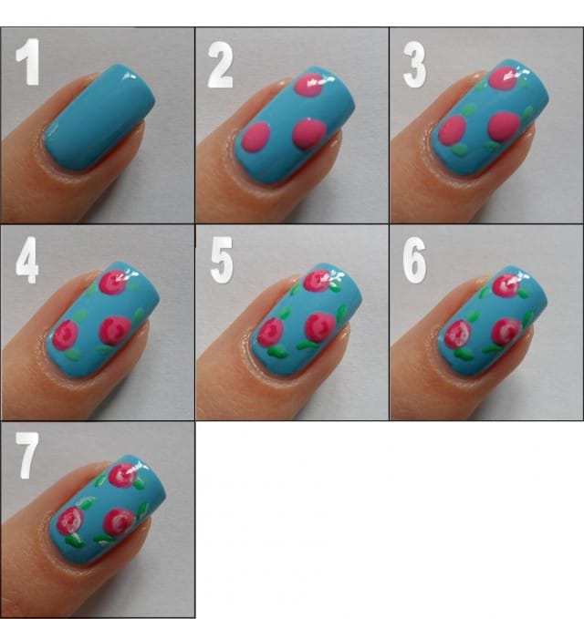 5spring-nail-art-Step-By-Step