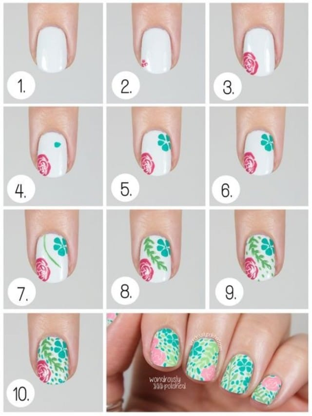 9spring-nail-art-Step-By-Step