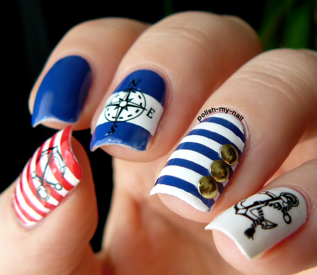 8nautical-nail-art