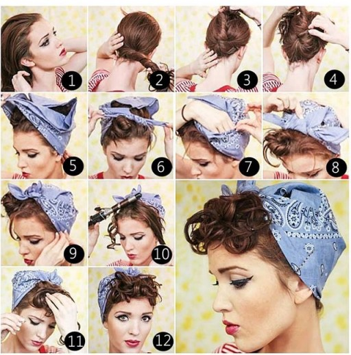 Swanky-Bandana-Tied-Updo-Hairstyle-DIY-Tutorial-512x518