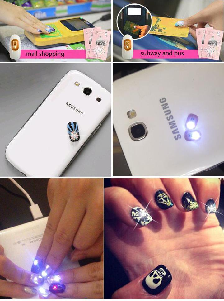 cellulare-sensori-nfc-nail-stickers-lampeggianti
