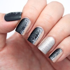 glitter-nail-art-black-and-silver